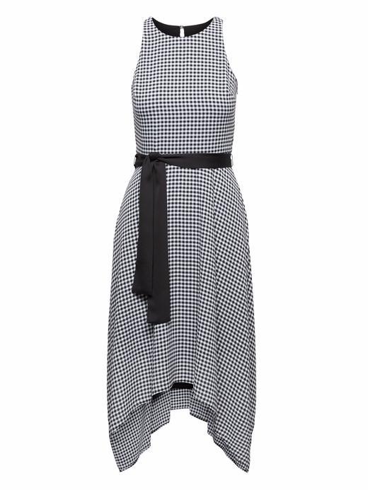 Çıkarılabilir Kemerli Ekose Elbise