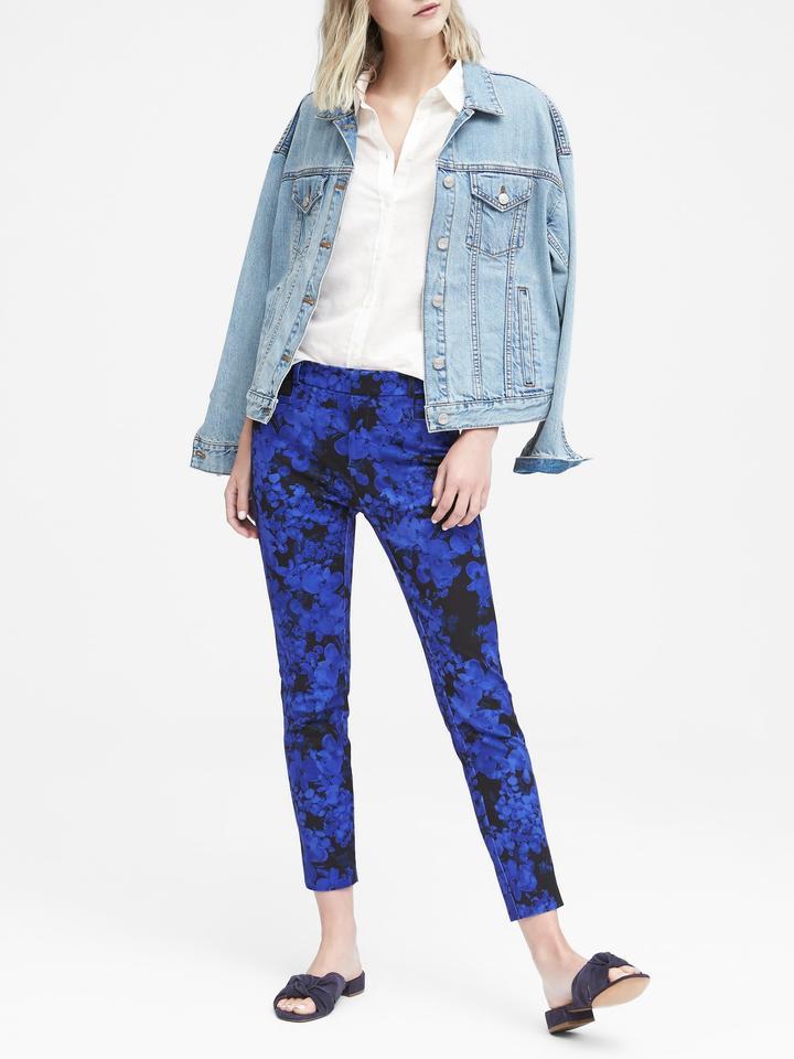 Sloan Skinny-Fit Çiçekli Pantolon