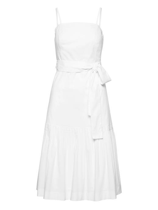 Kadın Beyaz Super Streç Çıkarılabilir Askılı Elbise