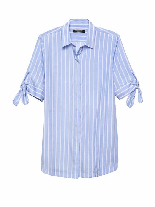 Parker Tunic-Fit Çizgili Gömlek