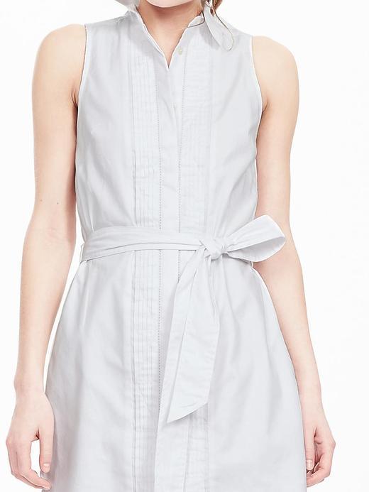 Kolsuz Oxford Elbise