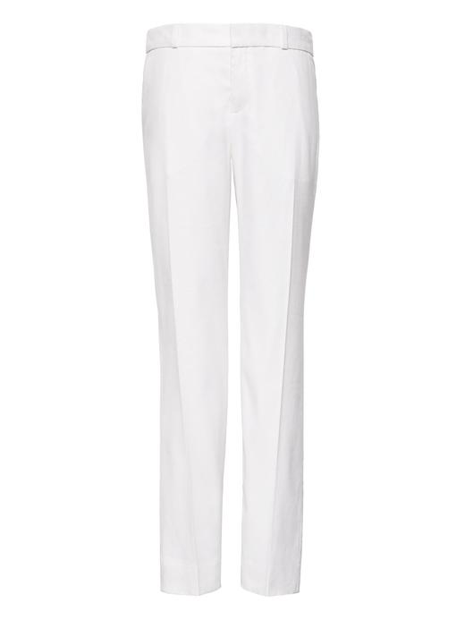 Avery Straight-Fit Keten ve Pamuk Karışımlı Streç Pantolon