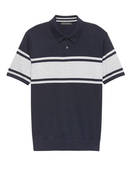 Supima® Çizgili Polo T-Shirt