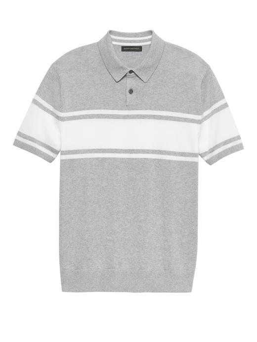 Supima® Çizgili Polo T-Shirt