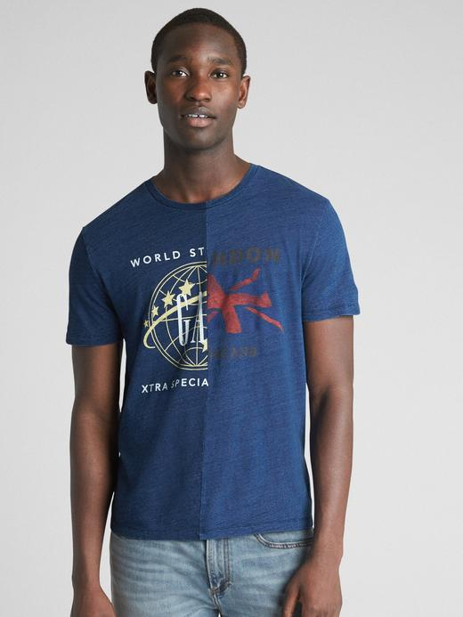 Logo Global Remix Baskılı Kısa Kollu T-Shirt