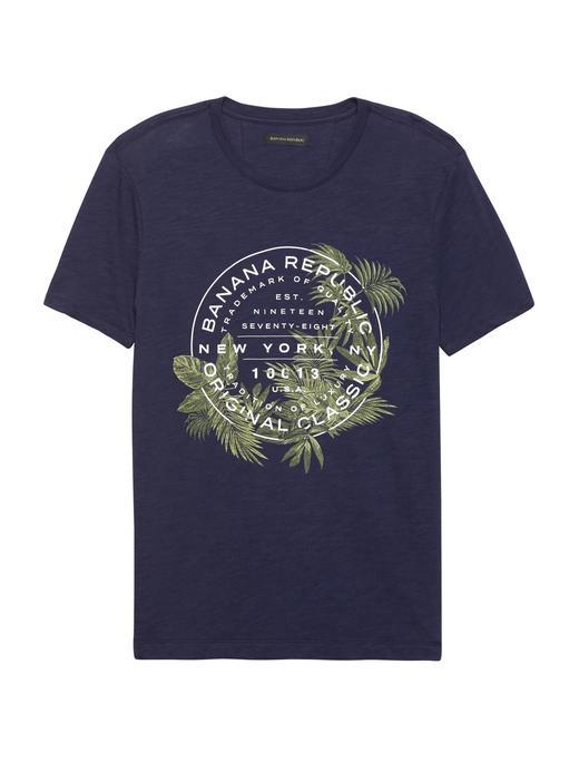 Soft-Wash Logolu Sıfır Yaka T-Shirt