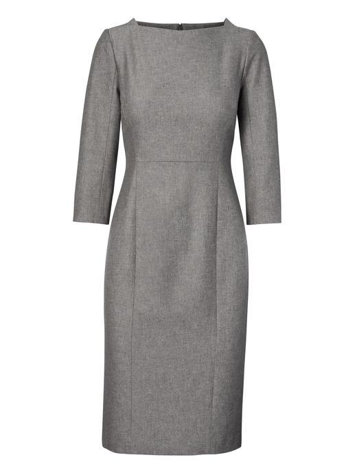 koyu gri Uzun Kollu Elbise