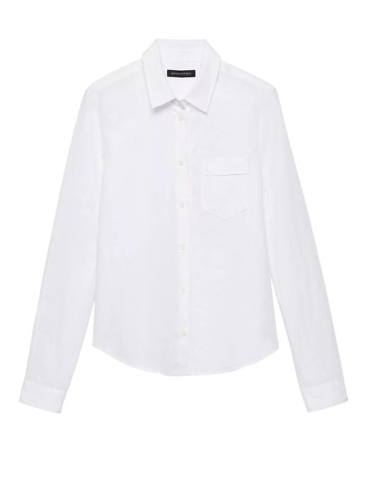 Quinn Boy-Fit Keten ve Pamuk Karışımlı Gömlek