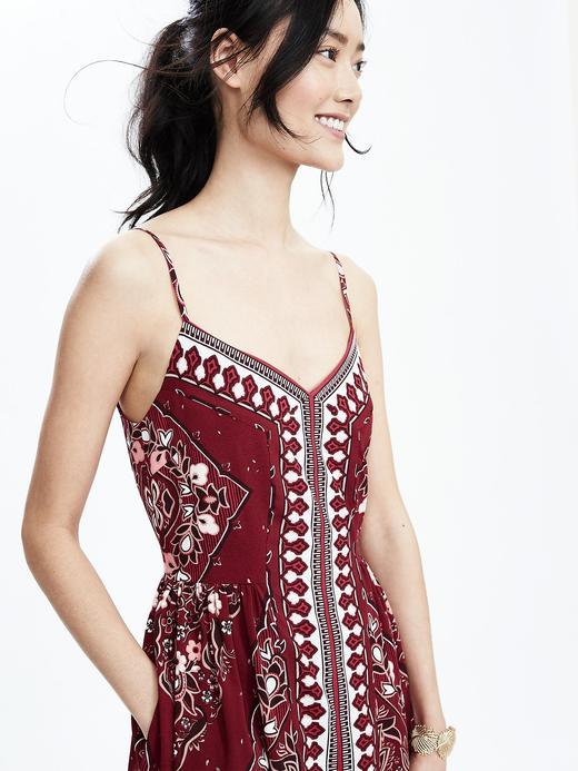 Desenli Askılı Elbise