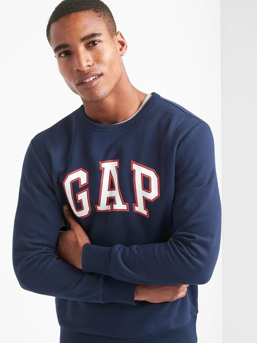 Logolu polarlı sıfır yaka sweatshirt