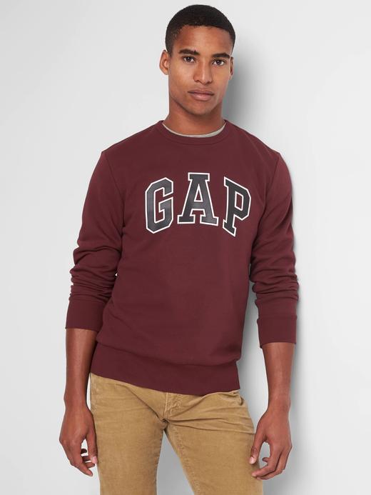 kırmızı Logolu polarlı sıfır yaka sweatshirt