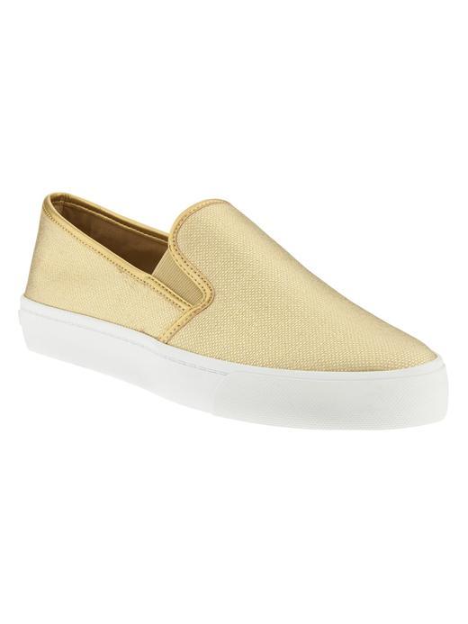 Kadın altın rengi Slip-On Sneaker