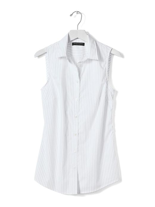 Riley-Fit çizgili kolsuz gömlek