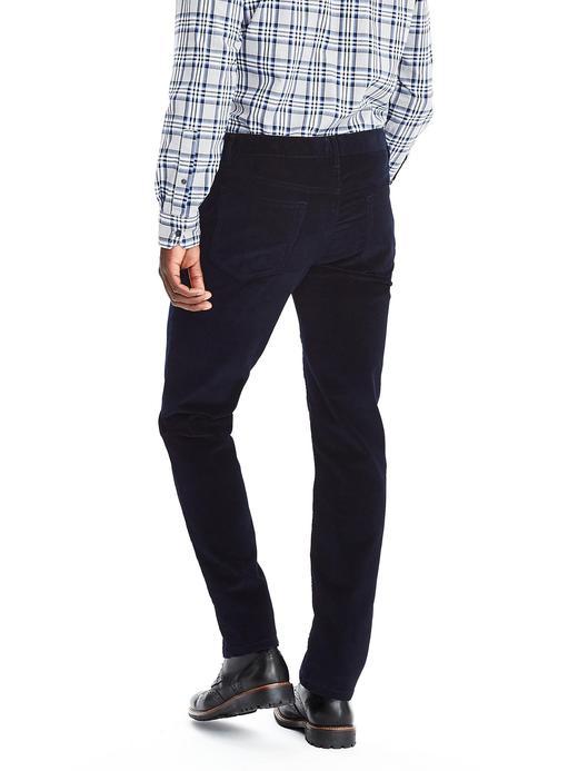 Erkek lacivert Aiden Kadife Pantolon