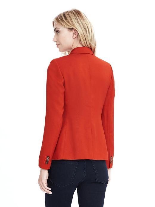 Kadın turuncu Yaka kenarları püsküllü blazer ceket