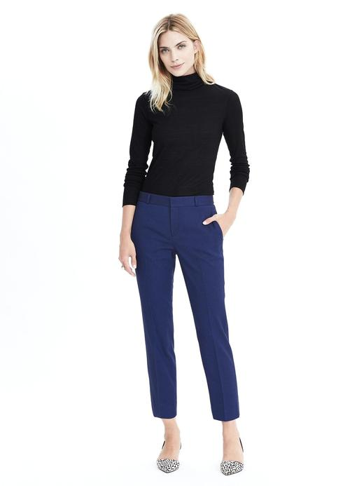 Kadın siyah/mavi Avery-Fit bilekte biten pantolon