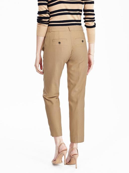 Kadın camel Avery-Fit Bilekte Biten Pantolon