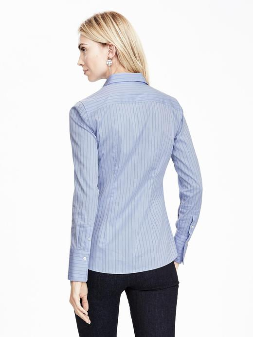 Kadın mavi Riley-Fit fırfırlı gömlek