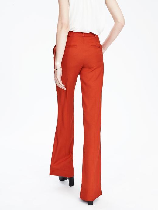 Kadın turuncu Düz paça pantolon