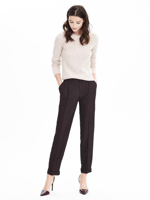 Kadın lacivert Avery-Fit bilekte biten pantolon