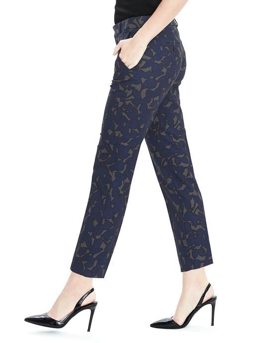 Kadın çiçek desenli Avery-Fit yün karışımlı çiçek desenli pantolon