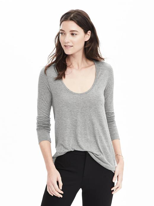 Uzun kollu modal t-shirt