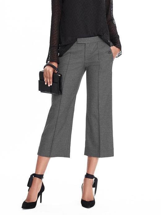 Kadın koyu gri Geniş paça pantolon