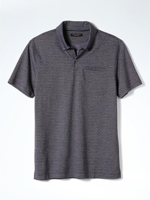 Luxury-Touch jakarlı polo t-shirt