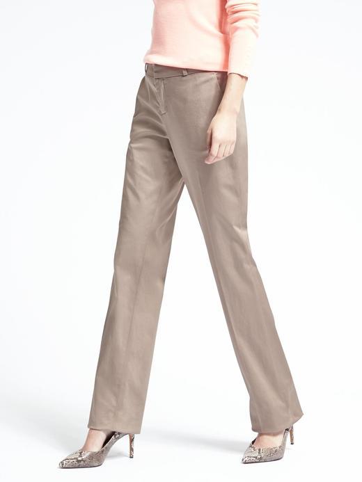 Logan-fit saten pantolon