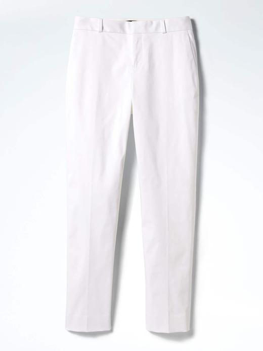 Avery-Fit beyaz bilekte biten pantolon