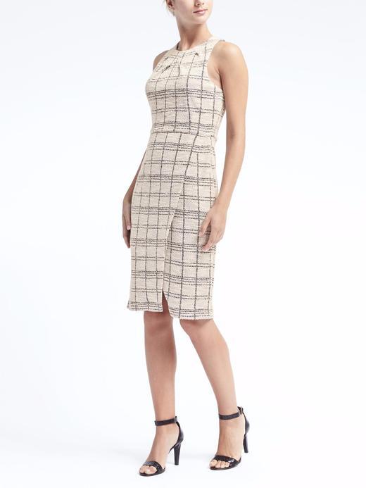 Kadın Beyaz Ekose Elbise