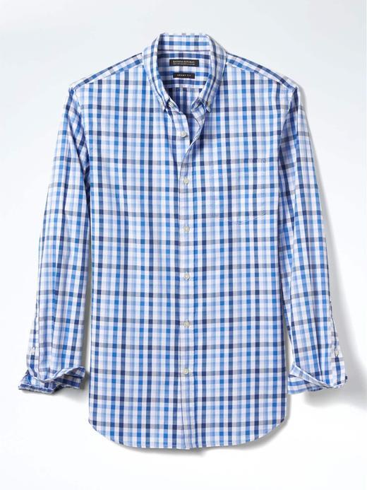 Grant Slim-Fit pötikareli oxford gömlek