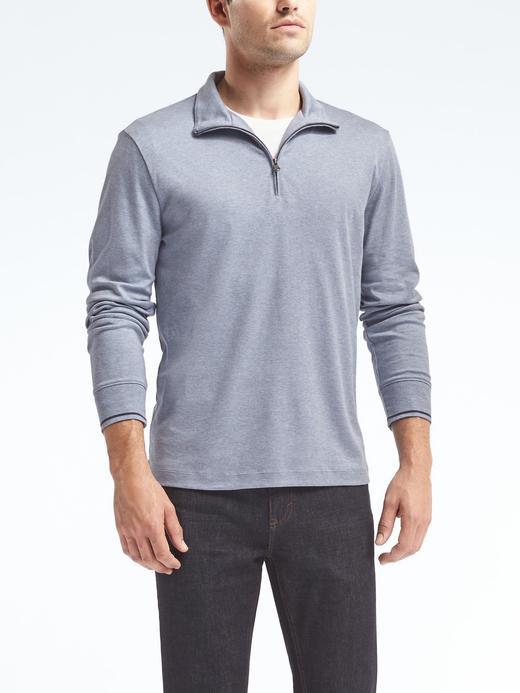 Luxury-Touch Yarım Fermuarlı Sweatshirt