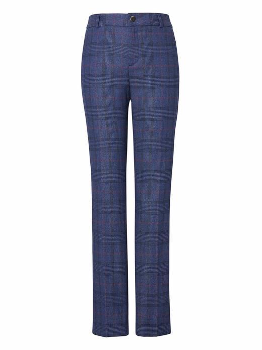 Ryan Slim Straight-Fit Ekose Pantolon