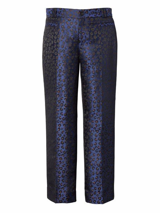 mavi Logan Trouser-Fit Desenli Kısa Pantolon