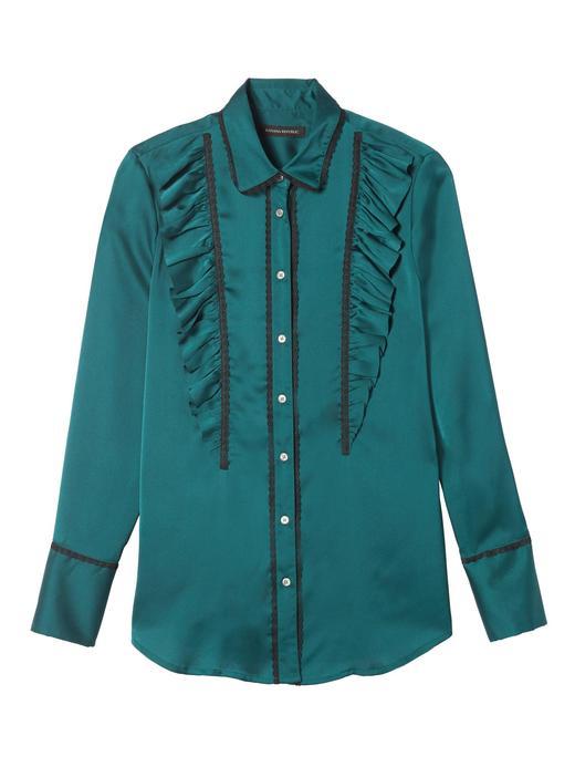 Dillon-Fit fırfırlı gömlek