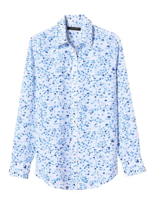 Dillon-Fit Çiçek Desenli Gömlek