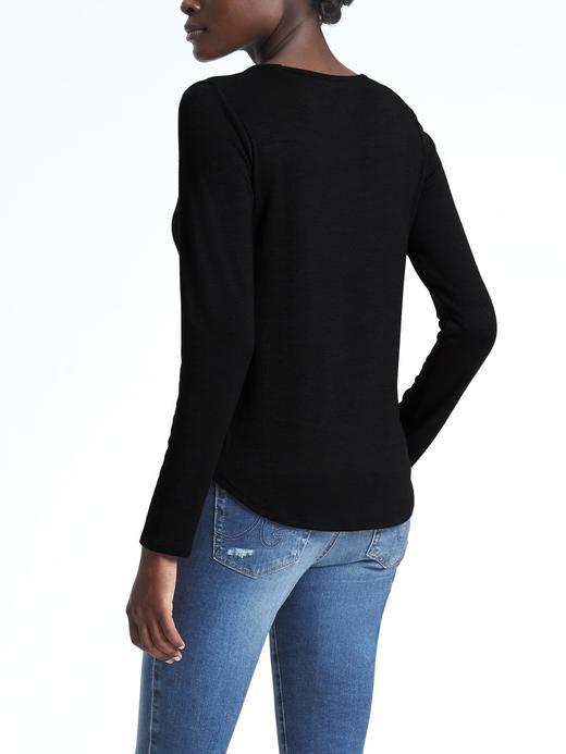 Kadın açık pembe Yumuşak Jarse SıfırYaka T-Shirt