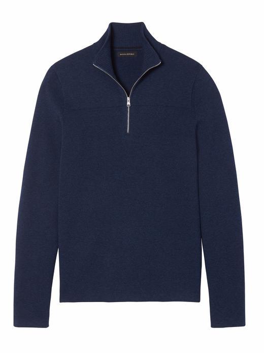 Yarım Fermuarlı Milano-Stitch Sweatshirt (Coolmax® Teknolojisi ile)
