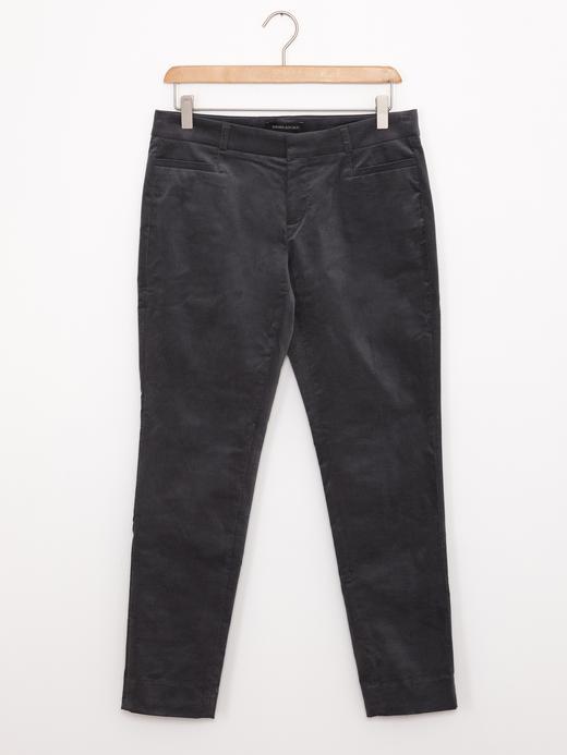 Kadın koyu gri Sloan Fit Kadife Pantolon