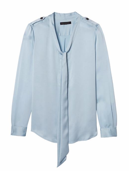 Kadın kraliyet mavisi Omuzları Düğme Detaylı Bluz