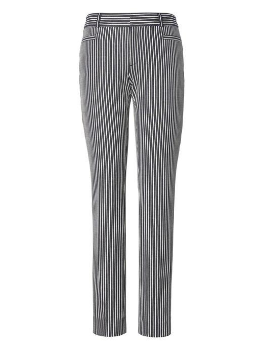 Kadın lacivert Sloan Skinny-Fit Çizgili Pantolon