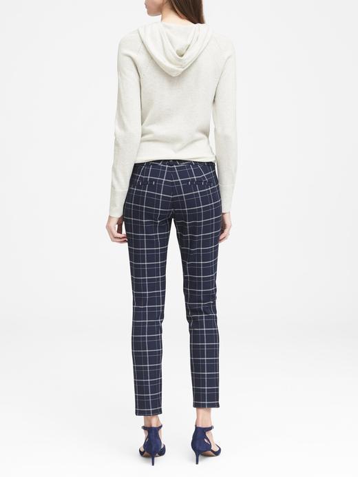 Kadın kırçıllı gri Sloan Skinny-Fit Ekose Pantolon
