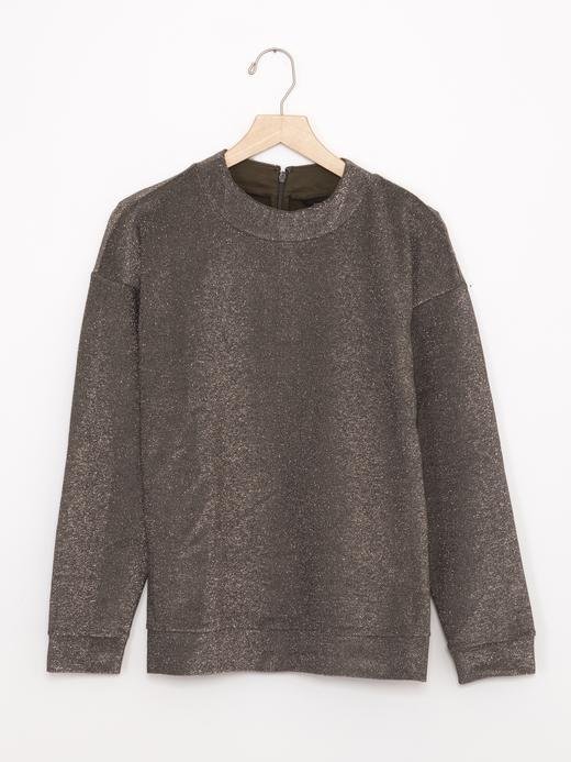 Pırıltılı Uzun Kollu Sweatshirt