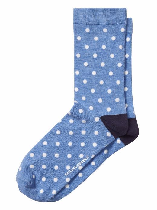 Puantiye Desenli Çorap