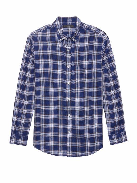 mavi Camden Standard-Fit Ekose Gömlek