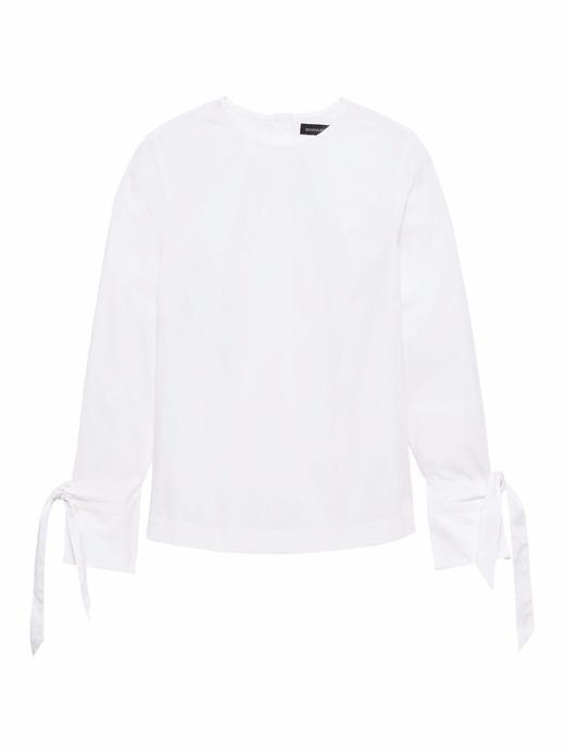 Kadın Beyaz Uzun Kollu Streç Bluz