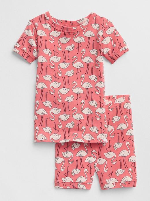 Flamingo desenli pijama takımı