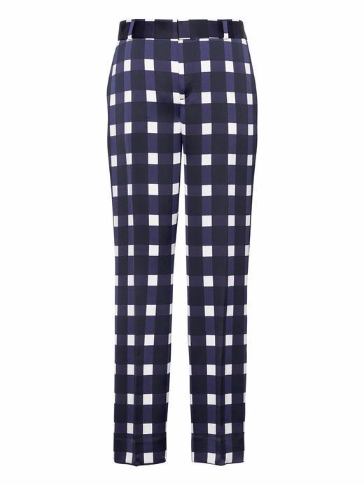 mavi desenli Avery Ankle-Fit Desenli Pantolon