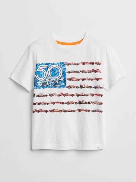 GapKids | Hot Wheels© baskılı t-shirt